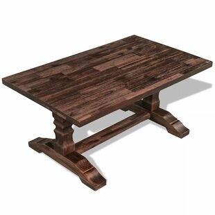 Wexler Solid Acacia Wood Coffee Table By World Menagerie