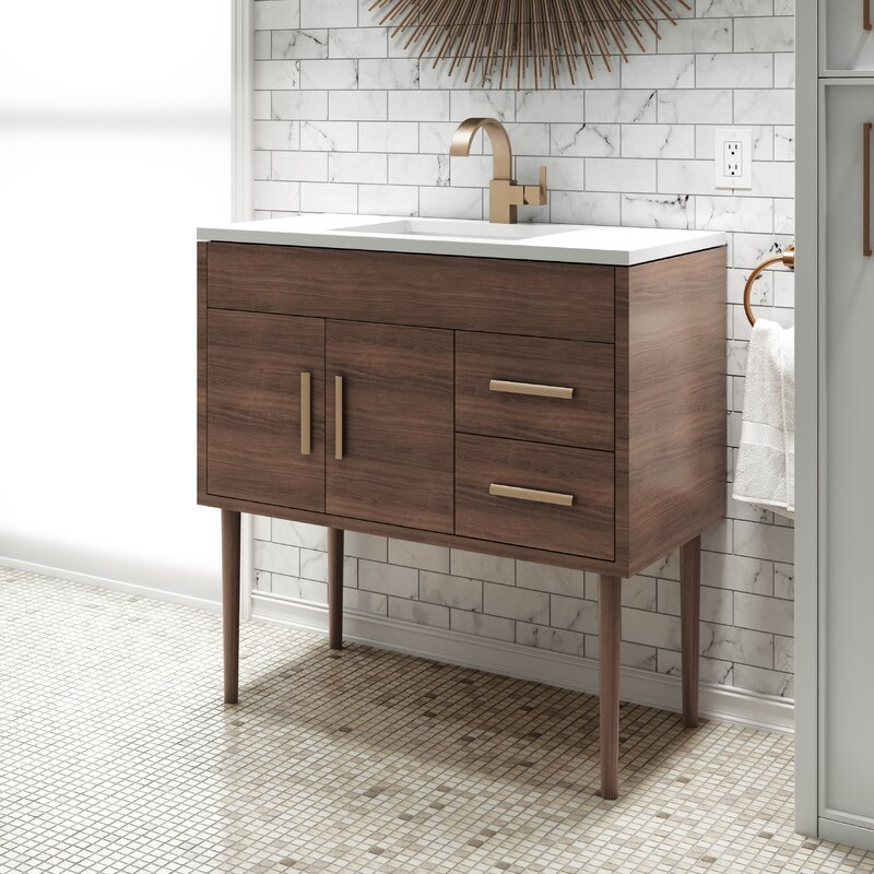 Matthews 37 Single Bathroom Vanity Set & Reviews