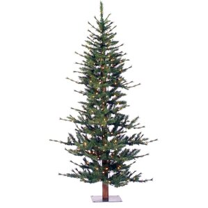 minnesota pine 7 green artificial half christmas tree with stand - Flat Back Christmas Tree
