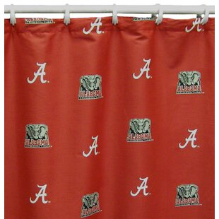 NCAA Alabama Cotton Printed Shower Curtain ByCollege Covers