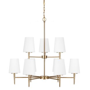 Langley Street Ganador 9-Light Shaded Chandelier