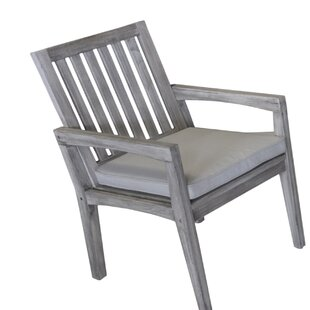 Jessica Casual Teak Patio Dining Chair with Cushion