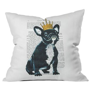 Coco de Paris Bulldog King Outdoor Throw Pillow