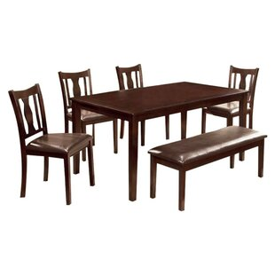 Krupp 6 Piece Dining Set Alcott Hill