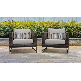 Barcelona Patio Chair with Cushions (Set of 2)