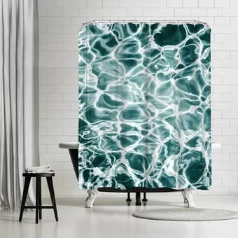 East Urban Home Ashley Camille Rocky Cobalt Single Shower Curtain Wayfair