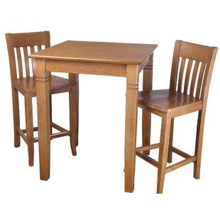Earnhardt 3 Piece Pub Table Set DarHome Co