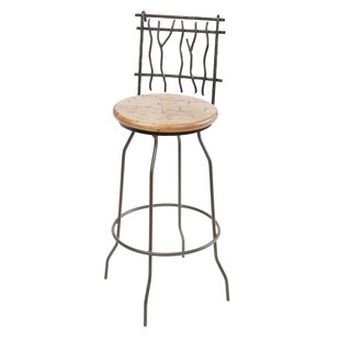 Traylor 30 Swivel Bar Stool Millwood Pines