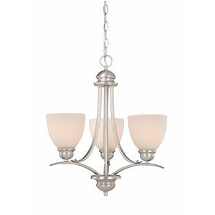 Top Reviews Bourbon 3-Light Shaded Chandelier By Andover Mills