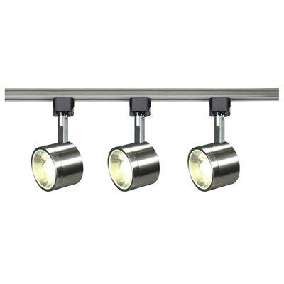 3-Light Track Kit Nuvo Lighting Finish: Brushed Nickel