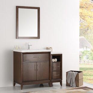 Cambridge 36 Single Traditional Bathroom Vanity Set with Mirror by Fresca