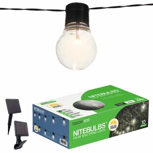 Touch of ECO Nitebulbs Solar 10-Light Globe String Lights