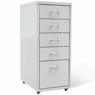 Brielle 5 Drawer Vertical Filing Cabinet