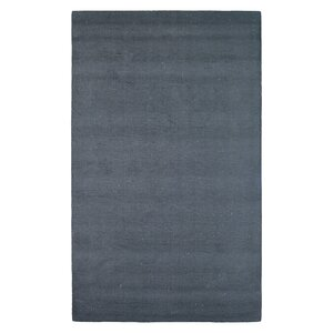 Wool Solid Hand-Tufted Black Area Rug