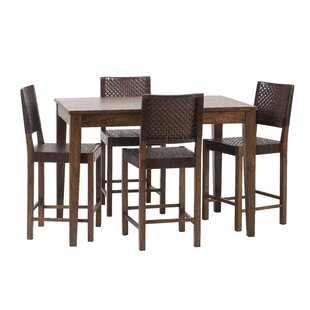 Gambino 5 Piece Dining Set Bloomsbury Market