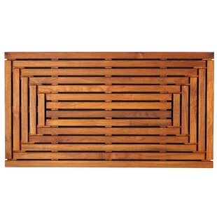 Buy clear Solid Teak Wood Shower Mat By Bare Decor