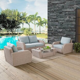 Boomer 4 Piece Sofa Set with Cushions