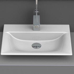CeraStyle by Nameeks Ceramic Rectangular Vessel Bathroom Sink