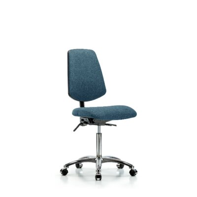 Jalyn Task Chair Symple Stuff Upholstery Color Blue CastersGlides