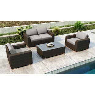 Glen Ellyn 4 Piece Sofa Set with Sunbrella Cushion