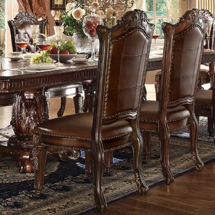 Astoria Grand Welles Scroll Upholstered Dining Chair (Set of 2)
