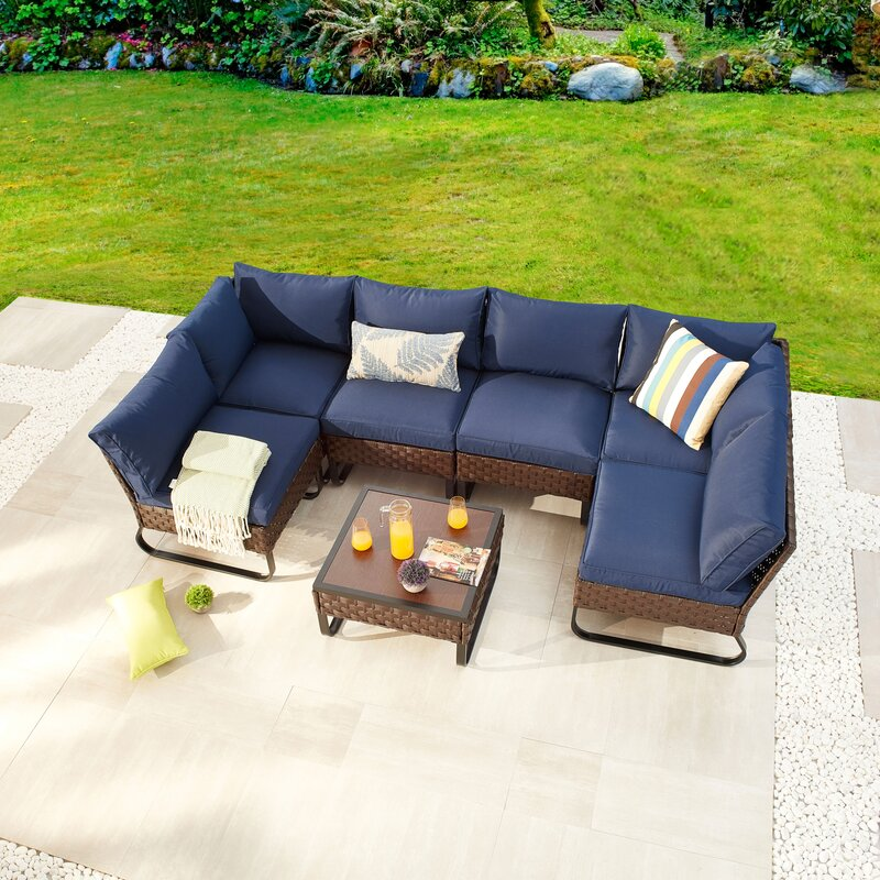 Breakwater Bay Chiasson Outdoor 7 Piece Sofa Seating Group With Cushions