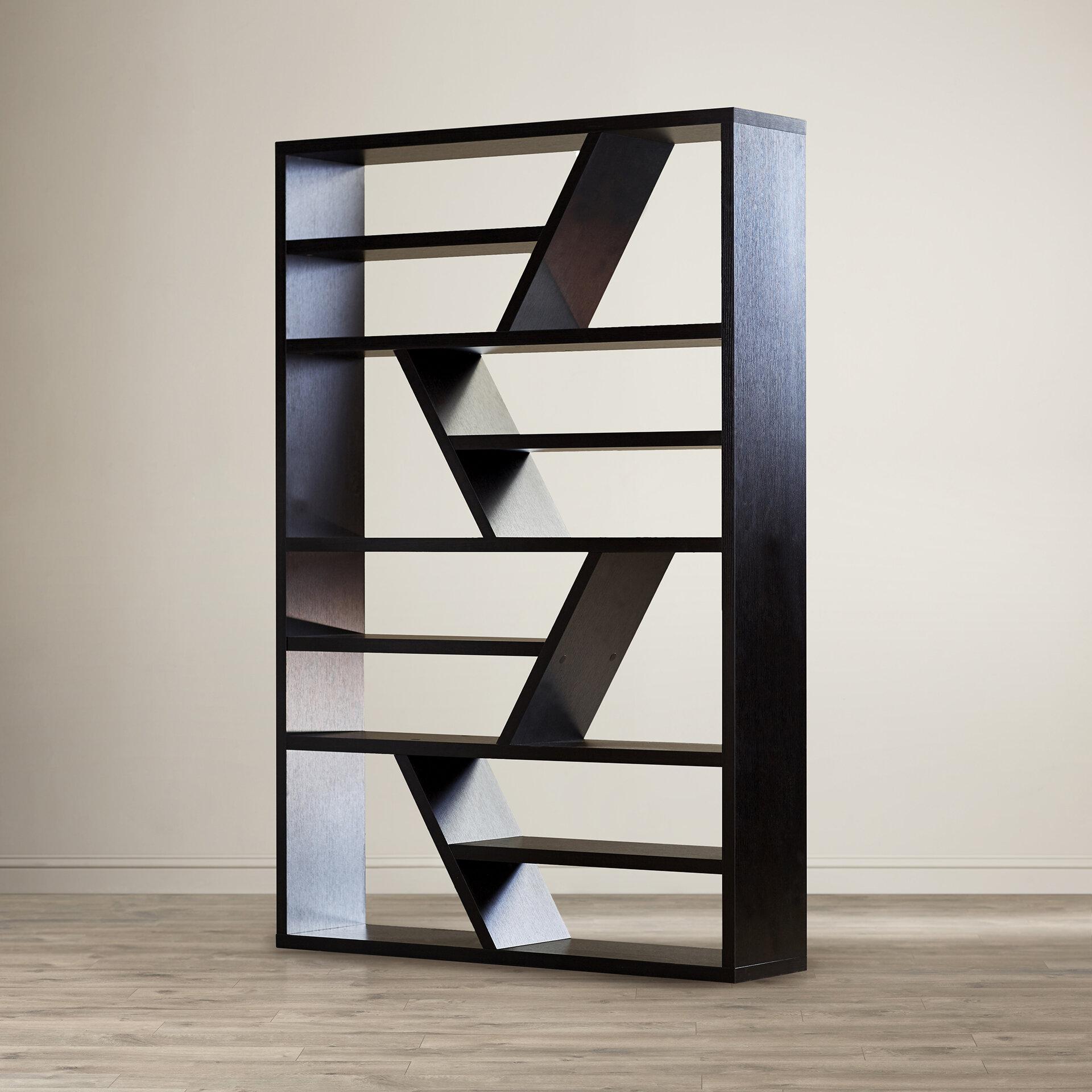 Mercury Row Dailey Geometric Bookcase Reviews Wayfair