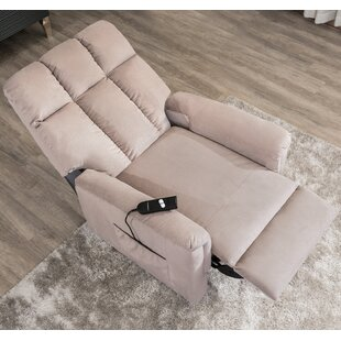 Adrion Soft Fabric Power Lift Assist Recliner By Latitude Run