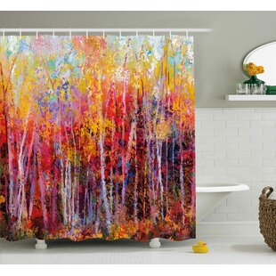 Trend Bartlett Autumn Forest Painting Shower Curtain ByCharlton Home