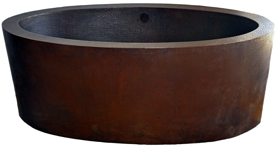 Dakota Freestanding Copper Bath Tub Soaking Bathtub
