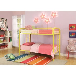 Sunnyside Contemporary Metal Twin Over Twin Bunk Bed by Harriet Bee