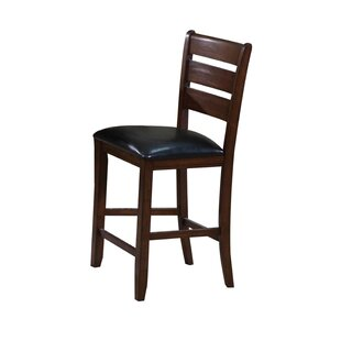 Eaman Genuine Leather Upholstered Dining Chair (Set of 2)