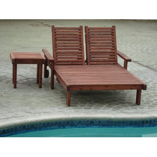 Gerome Wood Double Chaise Lounge