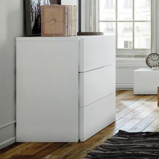 Brayden Studio Horologium 3 Drawer Chest