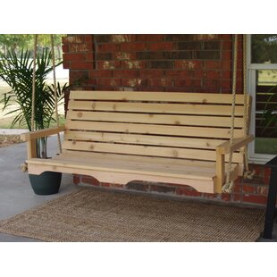 Seraphina Cedar Country Rope Porch Swing By Millwood Pines