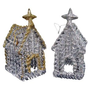 Glitter Church Christmas Ornament (Set of 144)