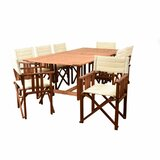 Brighton 9 Piece Dining Set with Cushions