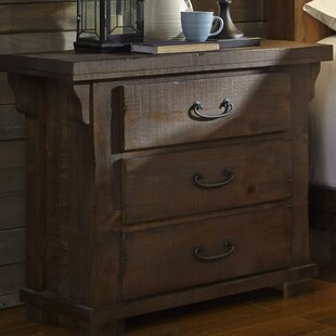 Loon Peak Buckleys 3 Drawer Nightstand