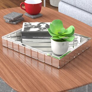 Nicolle Rectangle Contemporary Mirror Tray