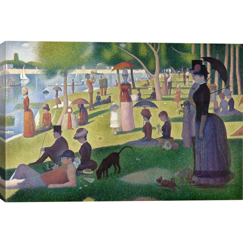 Vault W Artwork Sunday Afternoon On The Island Of La Grande Jatte By Georges Seurat Wrapped Canvas Print Reviews Wayfair