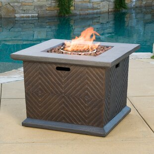 Bayou Breeze Hirsch Polyresin Propane Fire Pit Table