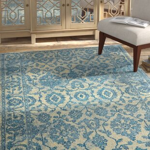 Reviews Moller Ronda Ivory/Blue Area Rug By Bloomsbury Market