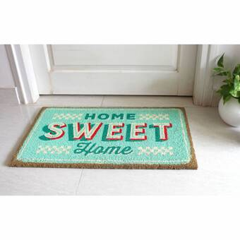 Winston Porter Cannady Home Heart 30 In X 18 In Non Slip Outdoor Door Mat Reviews Wayfair