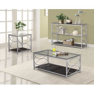Robbie Metal 3 Piece Coffee Table Set by House of Hampton