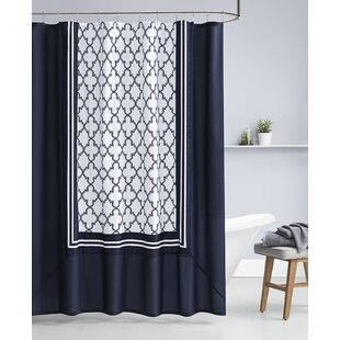 Ripple Single Shower Curtain by Charlton Home Bargain
