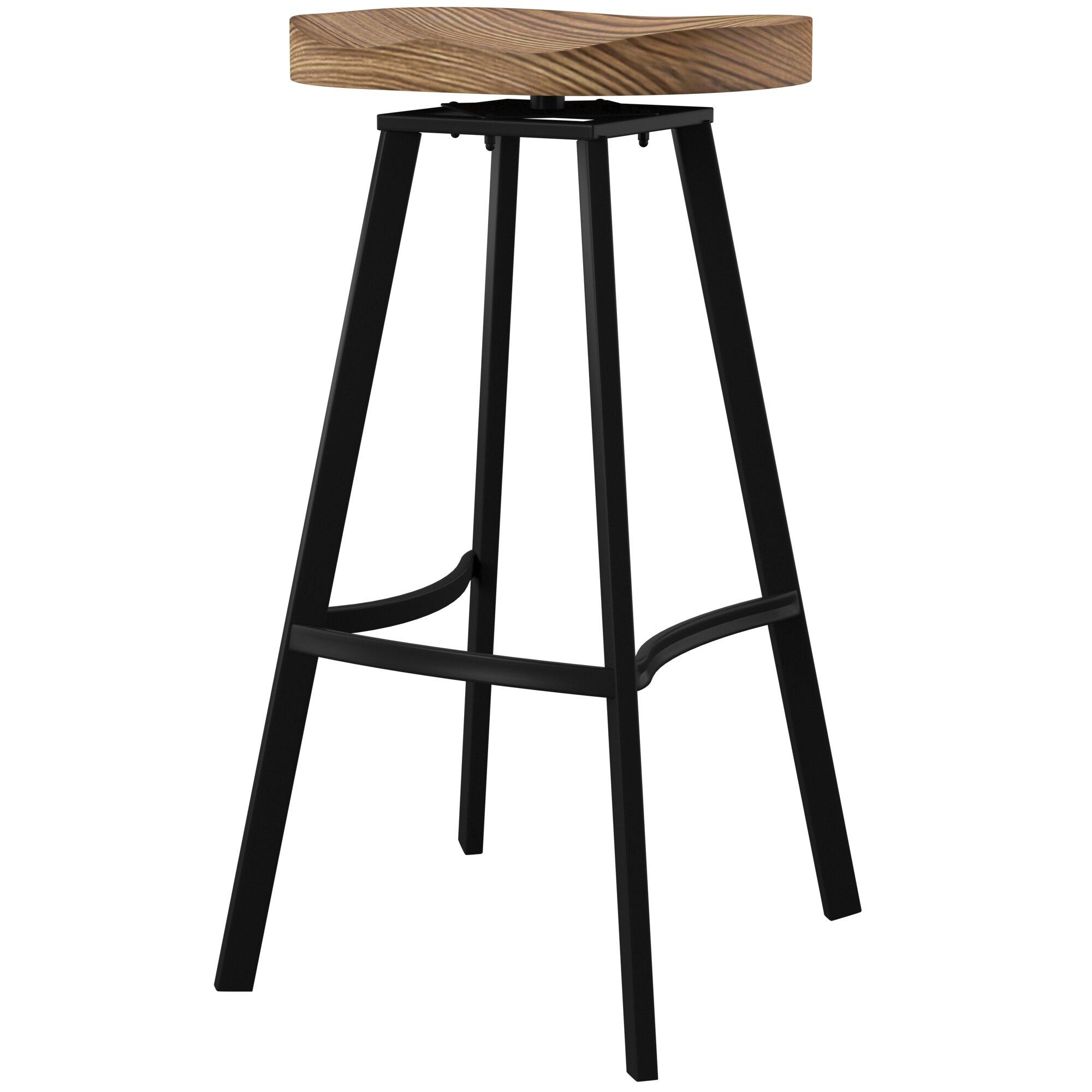Mercury Row Lindquist Swivel Solid Wood
