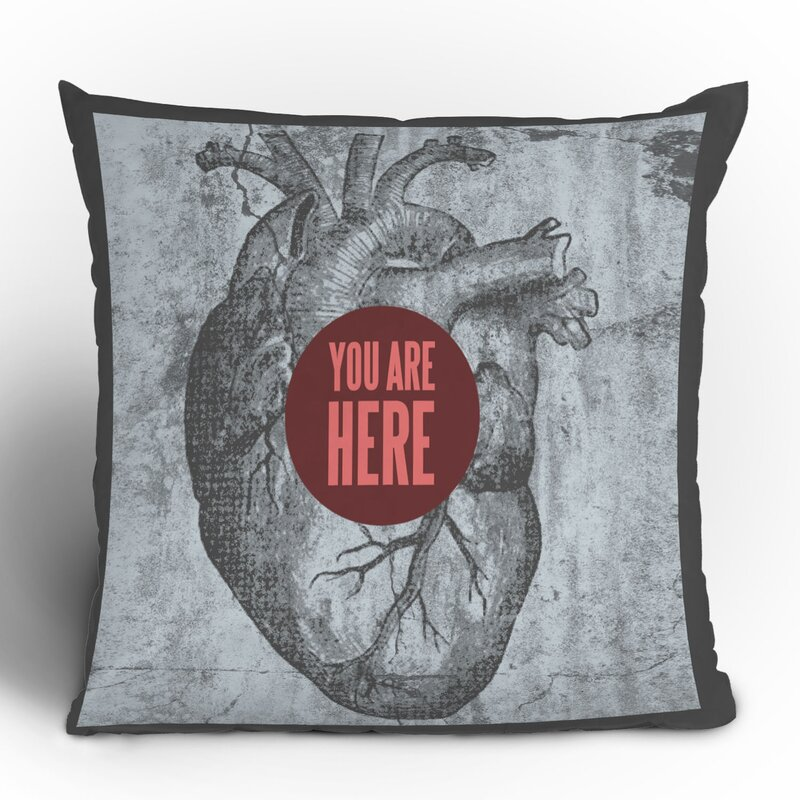 Wesley Bird You Are Here Throw Pillow