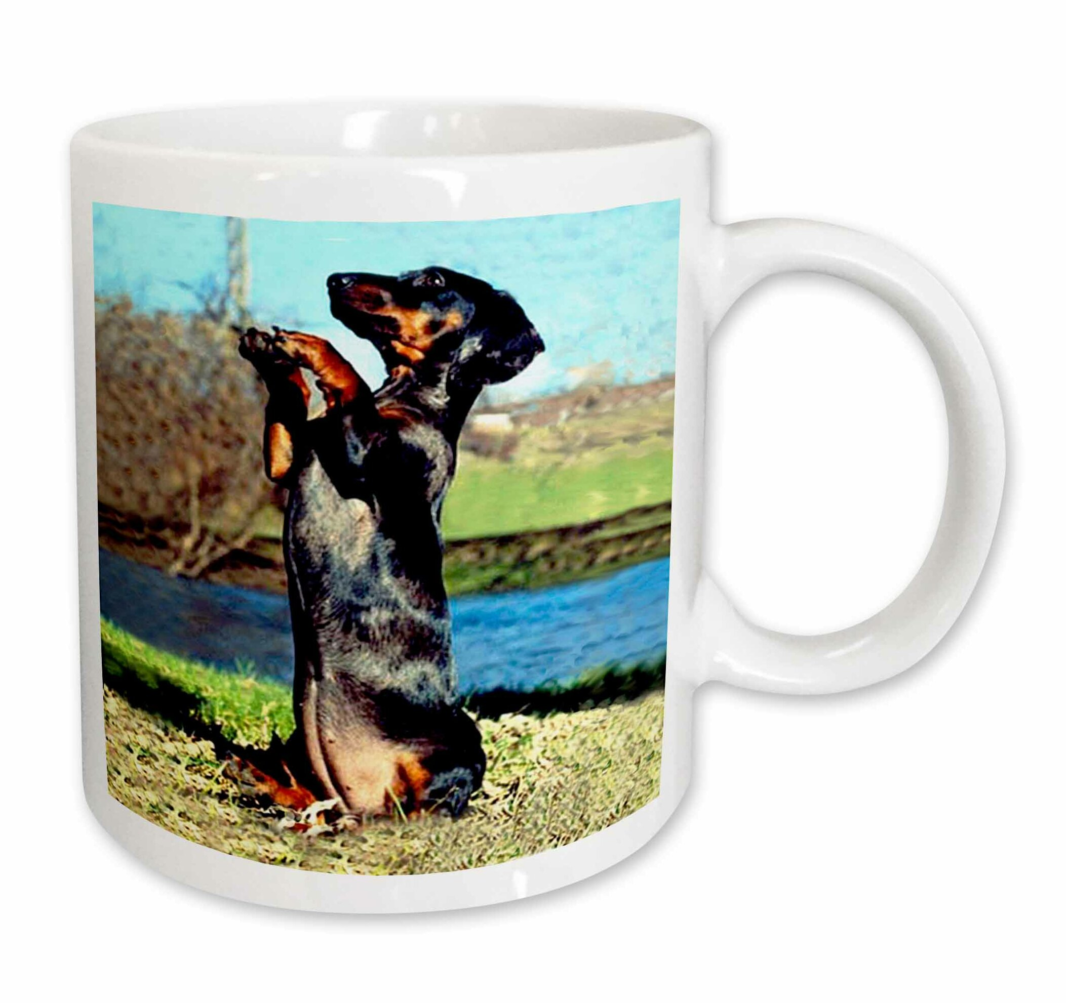 East Urban Home Dapple Dachshund Coffee Mug Wayfair