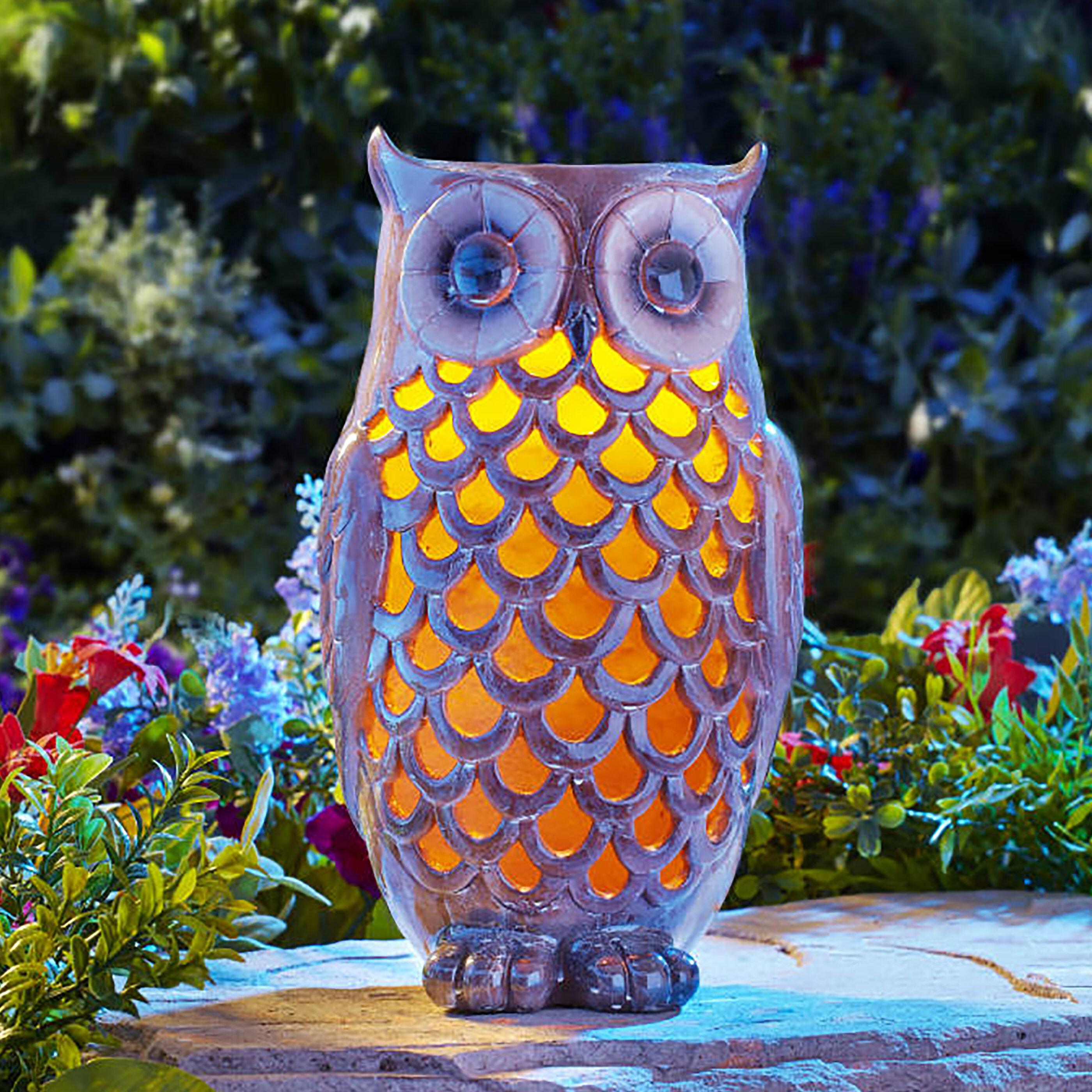 Moonrays Owl Solar Light Statue U0026 Reviews | Wayfair