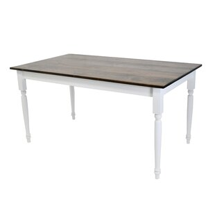 Auberta Rectangular Solid Wood Dining Table DarHome Co